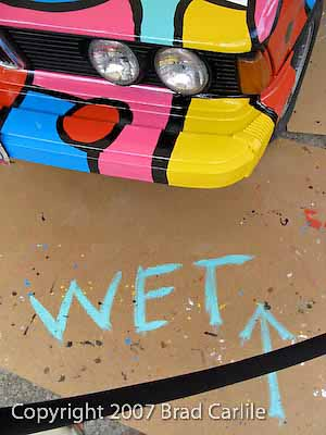 Car painted by Portland Artist Tom Cramer