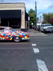 Tom Cramers Art Car Karmann Ghia - photo by Lavalle Linn