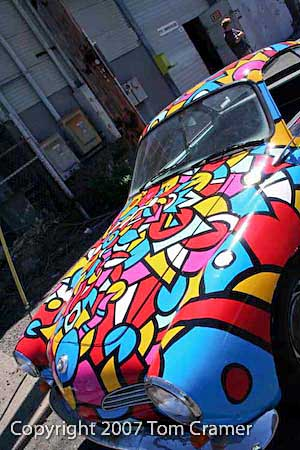 Tom Cramers Art Car Karmann Ghia - photo by Tom Cramer