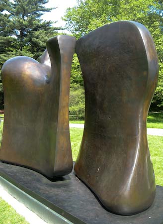 Henry Moore NYBG Knife Edge two piece